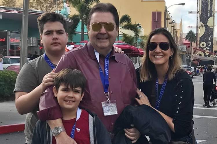 Faustão com a família/Instagram