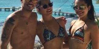 Jota Amâncio com Emilly e Mayla/Instagram