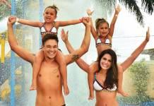 Leandro e Natália com as filhas/Instagram