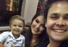 Matheus e Paula com o filho/Instagram