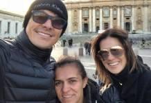 Rodrigo e Vera com Ana/Instagram