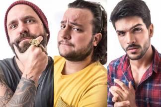 BBB18 - Caruso, Diego e Lucas (Reprodução/TV Globo)