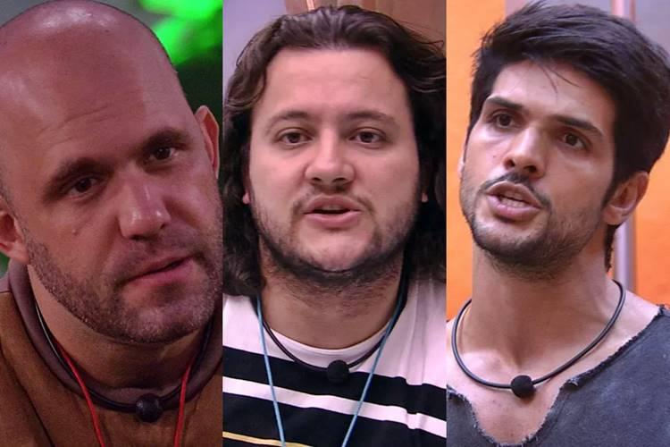 BBB18 - Caruso - Diego - Lucas (Reprodução/TV Globo)