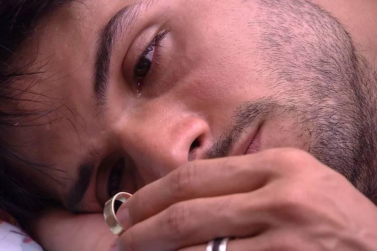 BBB18 - Lucas chora (Reprodução/TV Globo)