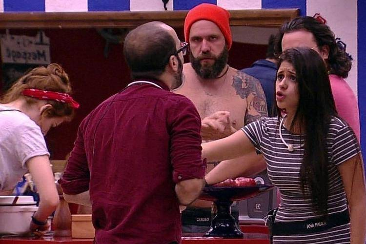 BBB18 - Mahmoud e Ana Paula discutem (Reprodução/TV Globo)