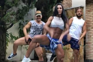 Belo e Gracyanne dançando/Instagram