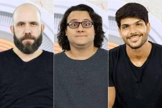 Caruso, Diego e Lucas - BBB18 - Enquete - Paredão