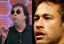 Casagrande e Neymar- Reprodução TV Globo/Instagram