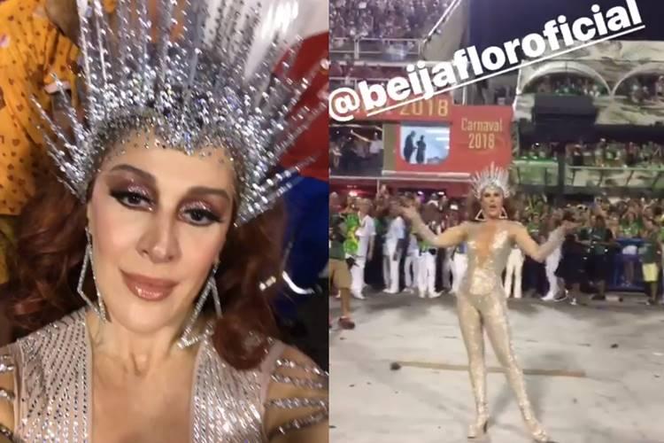 Claudia Raia na Beija Flor/Instagram