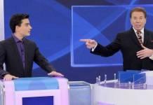 Dudu Camargo e Silvio Santos (Reprodução/SBT)
