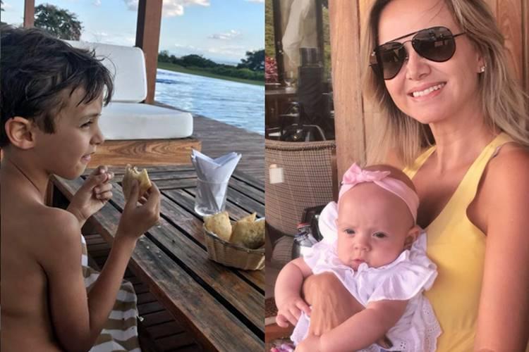 Eliana com os filhos/Instagram