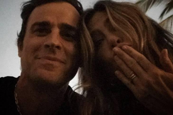 Jennifer Aniston e Justin Theroux/Instagram
