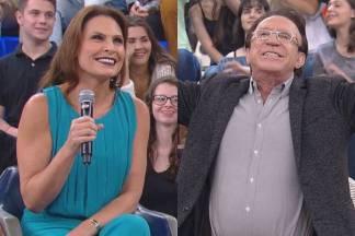 Laura Muller e Moacyr Franco (Globo/Divulgação)