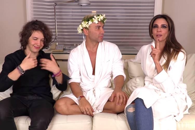 Luciana Gimenez com o filho e Matheus Mazzafera/Youtube