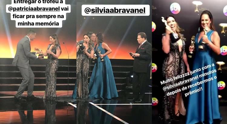 Silvia e Patricia no Trofeu Imprensa/Instagram
