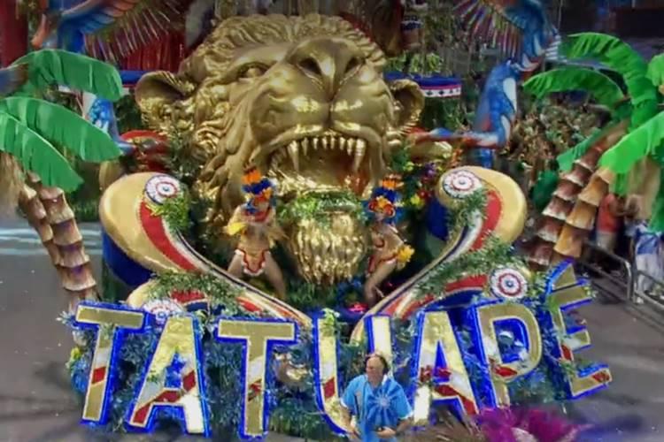 Tatuapé - campeã do carnaval de SP (Reprodução/TV Globo)