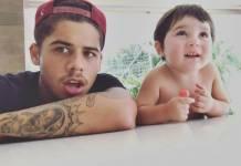 Zé Felipe com Noah/Instagram