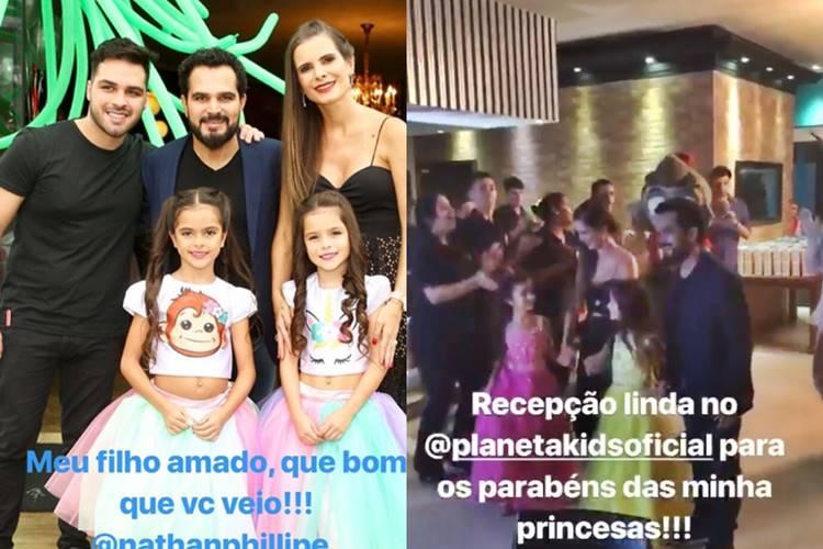Aniversário - Filhas Luciano/Instagram