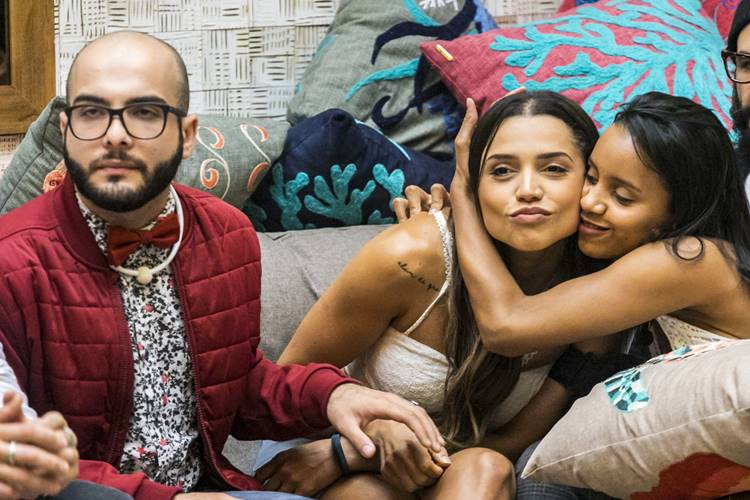 BBB18 - Mahmoud - Paula - Gleici (Globo/Paulo Belote)