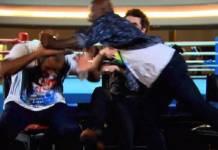 Boxeadores trocaram socos - Reprodução/TV Globo