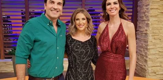Em entrevista a Gimenez, Erica Reis revela que Edu Guedes é mais 'chorão' (Divulgação/RedeTV!)