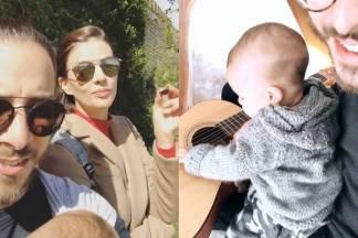 Junior Lima mostra filho tocando violão e viagem por Portugal/Instagram