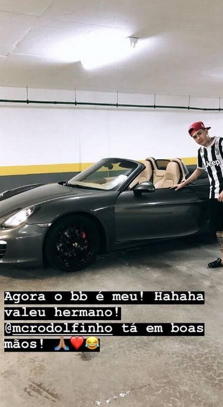 Kevinho e sua porshe - Reprodução/Instagram