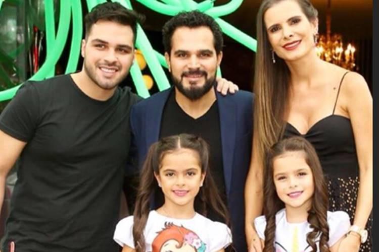 Luciano Camargo com sua família/Instagram