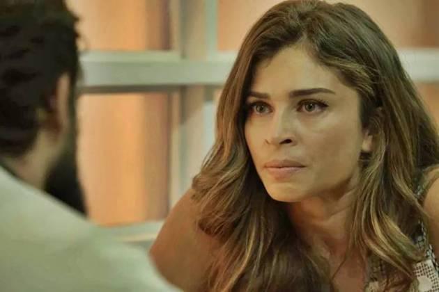 O Outro Lado do Paraiso - Lívia ameaça Renato (Reprodução/TV Globo)