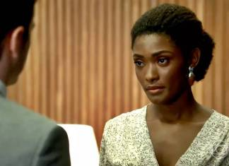 O Outro Lado do Paraíso: Bruno pede para voltar com Raquel (Reprodução/TV Globo)