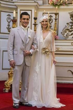 Tempo de Amar: Reta Final - Celina e Artur sobem ao altar (Globo/Marília Cabral)