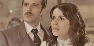 Tempo de Amar: Reta Final - Inácio desmascara Fernão e Lucinda na frente de Emília (Reprodução/TV Globo)