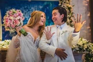 Whindersson Nunes e Luísa Sonza mostram imagens inéditas do casamento no 'Domingo Legal'/Instagram