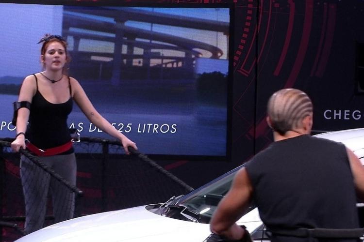 BBB18: Ana Clara e Kaysar discutem durante prova