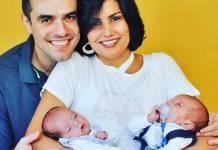 Daniel Saulo e Mariana Felicio com os gêmeos (Instagram/Foto:vancosta_fotografaemae)