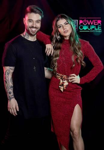 Douglas e Thais Bianca(Edu Moraes/Record TV)