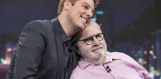 Fabio Porchat e Jô Soares (Edu Moraes/Record TV)