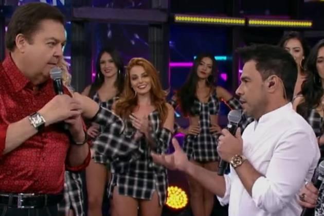 Faustão e Zezé Di Camargo - Reprodução/TV Globo