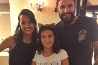 Gleici e Wagner com a filha/Instagram