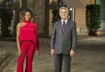 Gloria Maria e Sergio Chapelin (Globo/ Estevam Avellar)