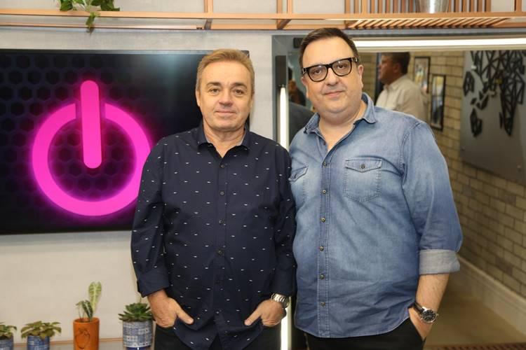 Gugu e Carelli (Divulgação/Record TV)