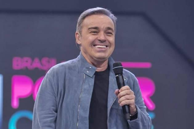 Gugu na estreia no Power Couple (Edu Moraes/Record TV)