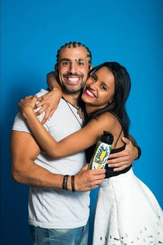 Kaysar e Gleici (Globo/Paulo Belote)