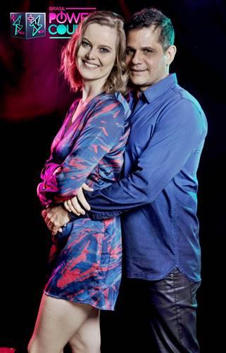 Liege Muller e Andre Di Mauro (Edu Moraes/Record TV)