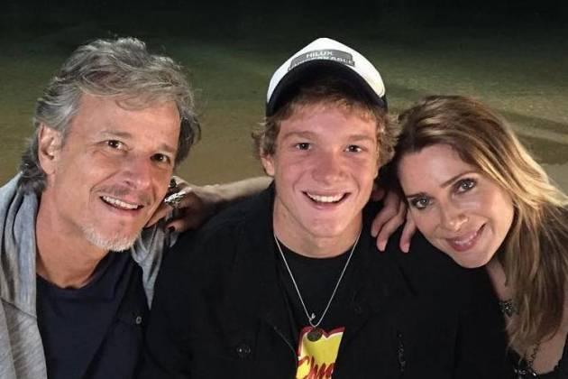Marcello Novaes, Pedro Novaes e Letícia Spiller - Reprodução/Instagram