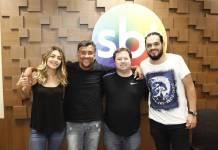 Marlei Cevada, Maurício Manfrini, Alexandre Porpetone e Matheus Ceará (Gabriel Cardoso/SBT)