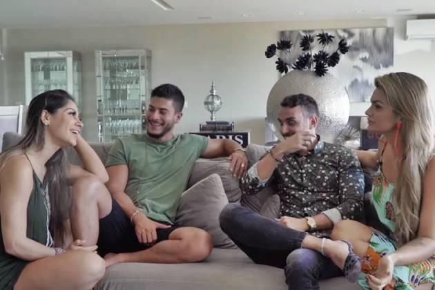 Mayra Cardi e Arthur Aguiar em um bate papo com Kelly Key e Mico Freitas/Youtube