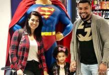 Moranguinho e Naldo com a filha/Instagram