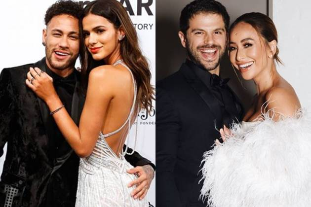 Neymar e Bruna Marquezine - Duda Nagle e Sabrina Sato/Instagram