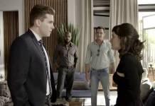 O Outro Lado do Paraiso - Gael aparece e interrompe despedida de Clara e Patrick (Reprodução/TV Globo)